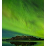 Aurora across Atlin Lake