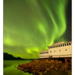 Aurora across Atlin Lake—M.V. Tarahne