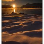 Sunset Atlin Lake Shore