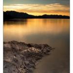 Sunset Atlin Lake